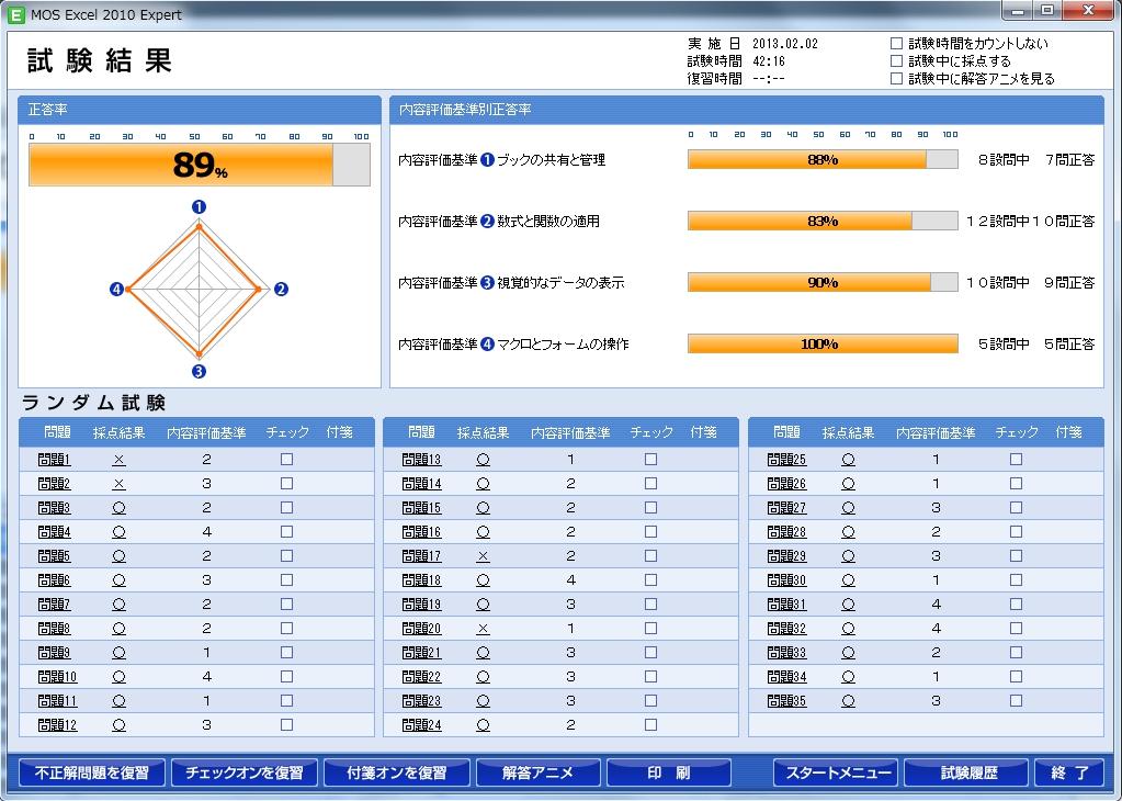 【FOM】MOS試験(上級)ランダム第2回130202