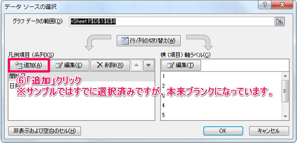 ガントチャート作成方法⑤