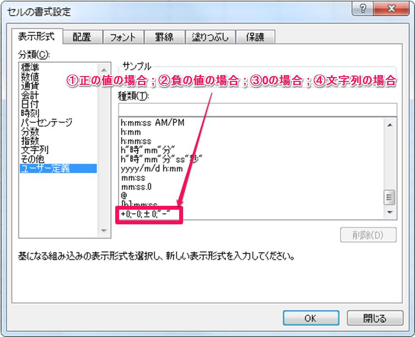エクセル 表示 形式 ユーザー 定義