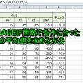 AVERAGEIF関数で条件に合ったデータの平均値を求める方法