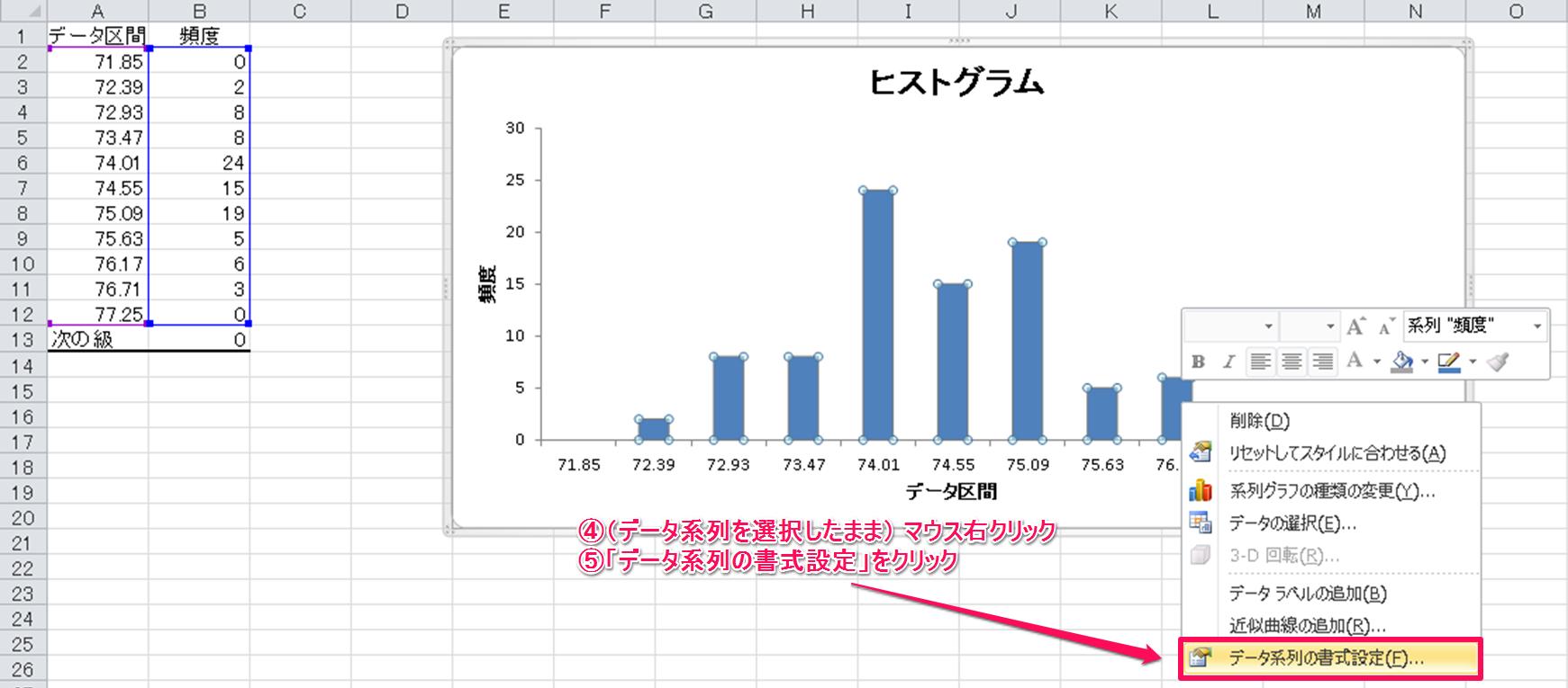 Excel2010の「分析ツール」アドインでヒストグラムを作成する ...