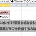 REPT関数とCOUNTIF関数を組み合わせて文字列で簡易グラフを作成する方法