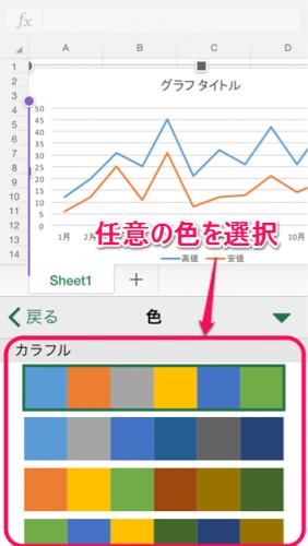 グラフ系列色変更②