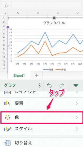 グラフ系列色変更①