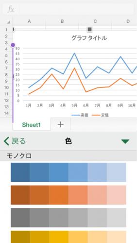 グラフ系列色変更③