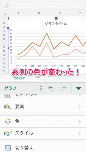 グラフ系列色変更④