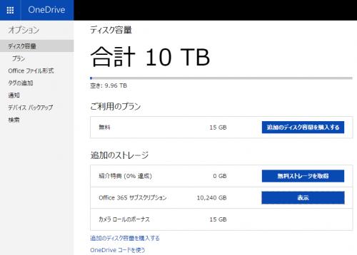 OneDrive容量制限廃止